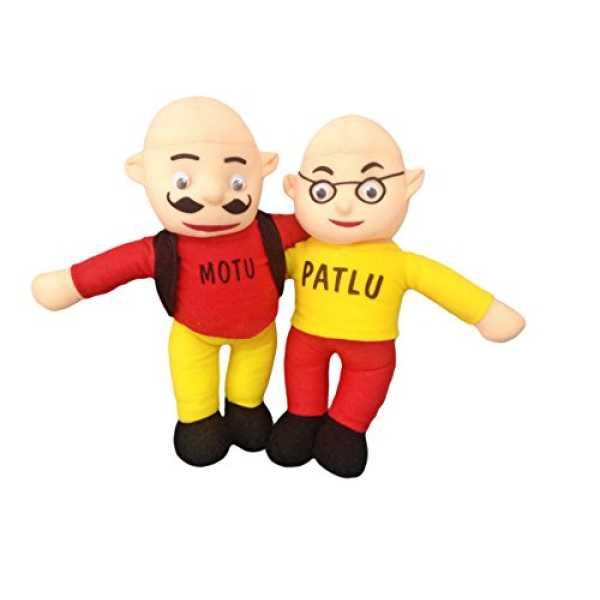 Proper Desi Cute Stuffed Toy Motu Patlu (Height-38 CM)