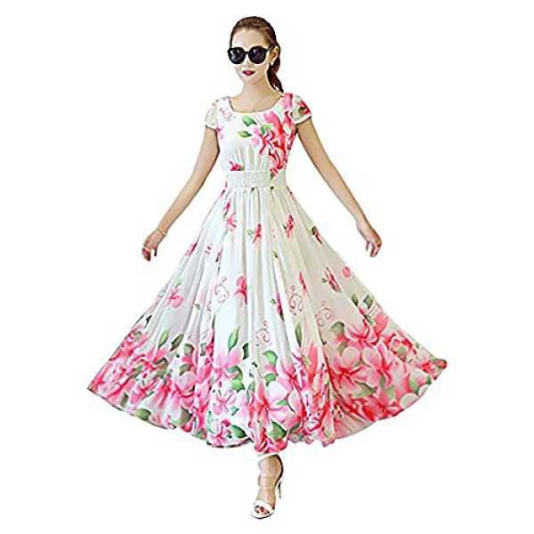 Ecolors Fab Women's Dress (Chini_Dolll_White_Large)