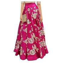 Ecolors Fab Women s Silk Lehenga Choli 2001_Navy_Blue01_Pink_Free Size