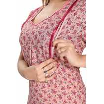 SOULEMO WOMENS PREMIUM FEEDING NIGHTY MATERNITY DRESS ALPINE FABRIC Only buy products of our brand SOULEMO which is sold by Soulemo itself to get genuine quality DONT GET INTO ONLINE FRAUD 600