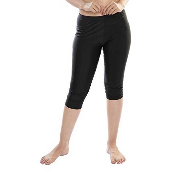 Carrel Women Nylon Lycra Fabric Swimwear Capri (AGSPL-3546)