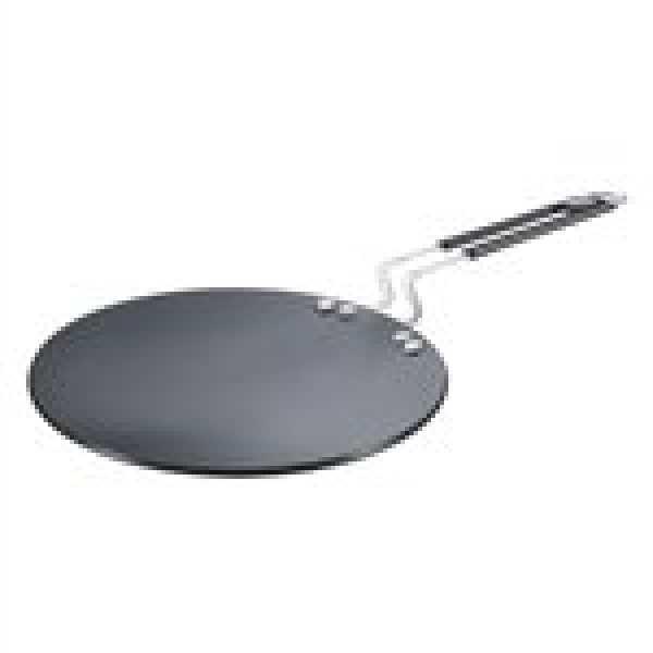 Prestige Hard Anodised plus Cookware Induction Base Roti Tawa, 225mm, Black