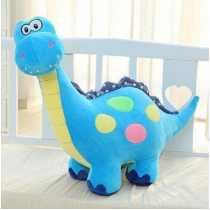 Tickles Blue Soft Cartoon Cuddly Large Dinosaur Dragon Colourful Plush Toy For Kids 33 cm