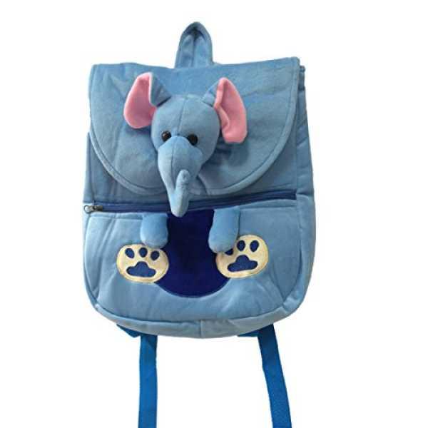 Ultra Felt Velvet School Bag with Elephant Soft Toy (Clear)
