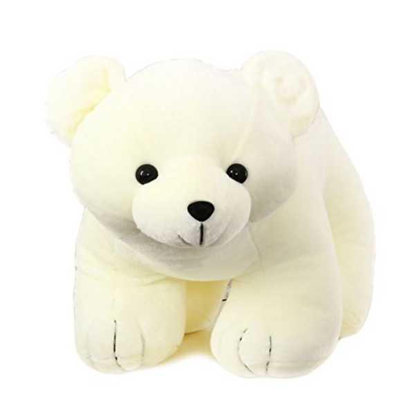 Tickles White Polar Bear Stuffed Soft Plush Toy Love Girl 25 cm