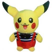 Richy Toys Pikachu Pokemon Soft Toy kids birthday Gift Stuffed Soft Plush Toy Love 22 cm(Any one color)