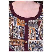 RAJMANDIRFABRICS Women's Cotton A-line Kurti