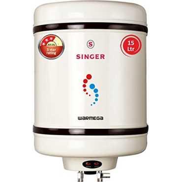 Singer Warmega 15 Litres Storage Water Geyser - White