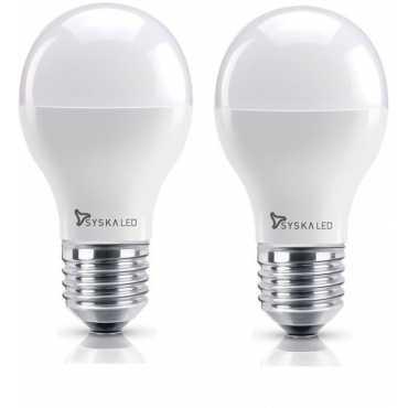 Syska 7W E27 LED Bulb Warm White Pack of 2