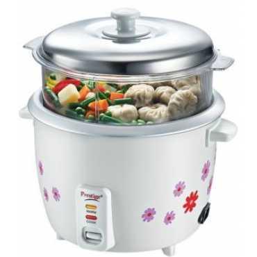 Prestige PRWOS 1.8 Electric Cooker - White