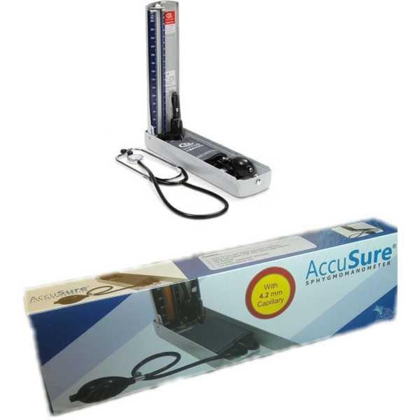 Accu Sure Accusure Bp Plus Manual Sphygmomanometer Bp Monitor - Grey
