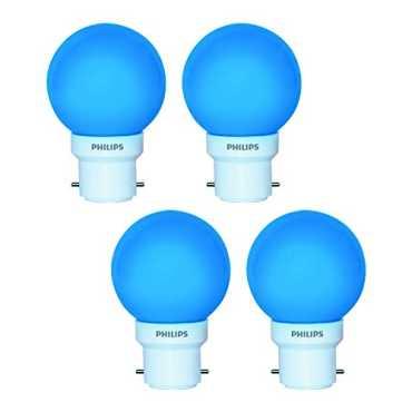 Philips 0.5W Decomini B22 LED Bulb (Blue, Pack of 4) - Blue