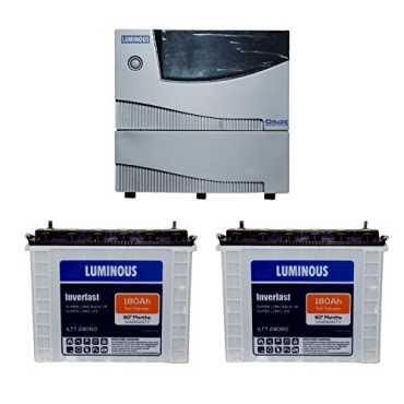 Luminous Cruze 2KVA Sine Wave Inverter With ILTT-24060 Batteries (Pack of 2) - Blue