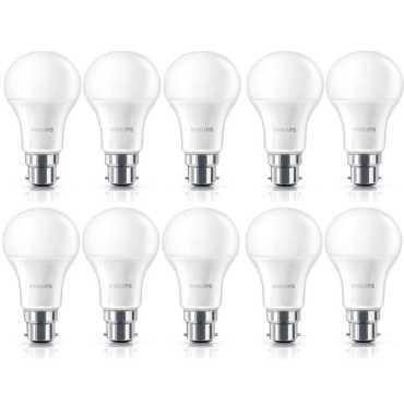 Philips Stellar Bright 9W B22 LED Bulb (Yellow, Pack of 10) - Yellow   White