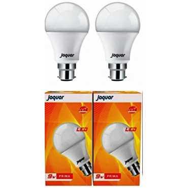 Jaquar 9W Prima B22 LED Bulb (White, Pack of 2) - White