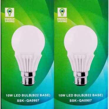 Syska 10 W B22 LED Bulb (White, Glass, Pack of 2)