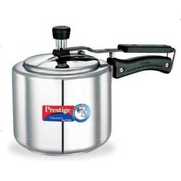 Prestige Nakshatra Alpha Stainless Steel 2 L Pressure Cooker (Induction Bottom, Inner Lid)