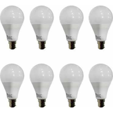 Syska 12 W B22 PAG LED Bulb (White, Pack of 8) - White