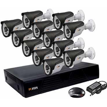 Puffin 16-Channel Dvr, 12(PF-6C8330) 1000TVL Bullet CCTV Cameras