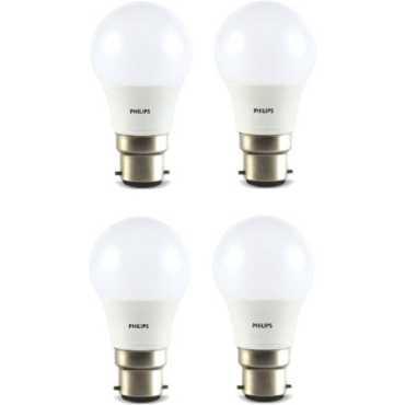Philips 4W Standard B22 350L LED Bulb Yellow Pack of 4