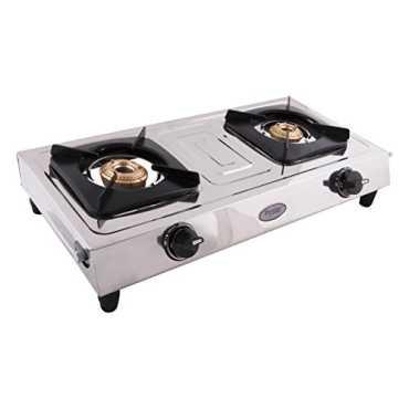 Prestige Star SS Gas Cooktop (2 Burner) - Steel   Silver