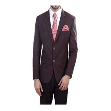 ManQ Brown Slim Fit Formal/Party Mens Blazer