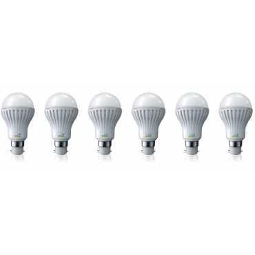 Nvis 5W B22 LED Bulb (White, Set Of 6) - White