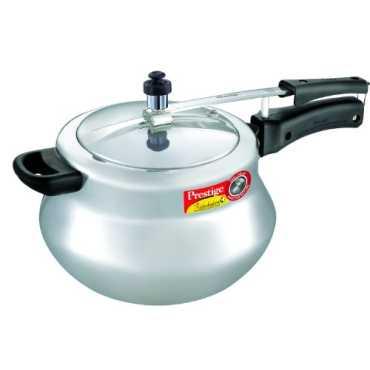 Prestige Nakshatra Plus Handi Aluminium 6.5 L Pressure Cookers - Silver