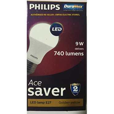 Philips Ace Saver E27 9W LED Bulb (Warm White) - White