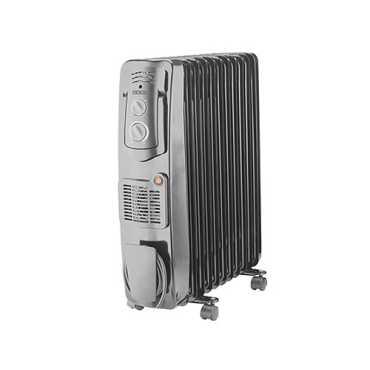 Usha OFR 3211FB 2300W Oil Filled Radiator Room Heater - Grey