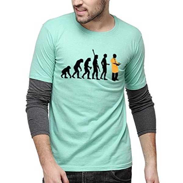 Men Printed Full Sleeves Sheldon T-Shirts(SS16MEL_RNFSSLD_M_EVO_SGCH_L)