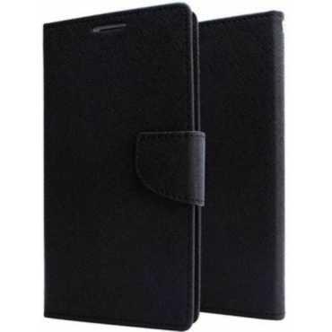 Groovy Flip Cover for Asus Zenfone 2 Laser ZE550KL Black Artificial Leather