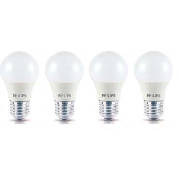 Philips Ace Saver 2.7W E27 230L Round LED Bulb  (White, Pack of 4) - White