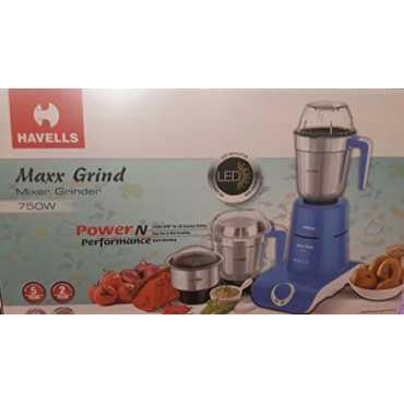 Havells Maxx Grind 750W Mixer Grinder (3 Jars) - Blue
