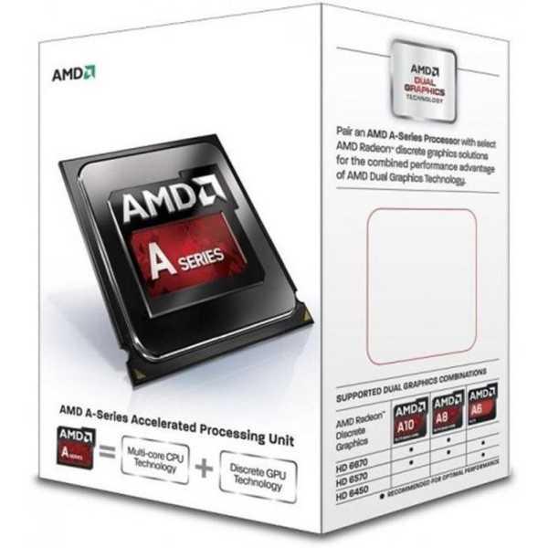 AMD A4 7300 Dual-Core Processor - White