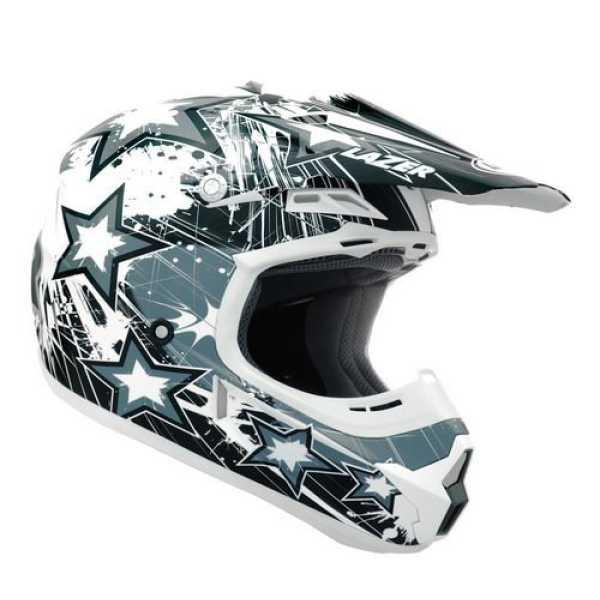 Lazer X7 Star Motocross Helmet (Large) - Grey
