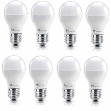 Syska 5W E27 Round LED Bulb Yellow Pack of 8