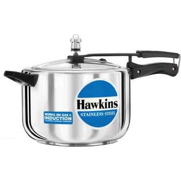 Hawkins Stainless Steel B85 Aluminium 8 L Pressure Cooker (Inner Lid) - Steel