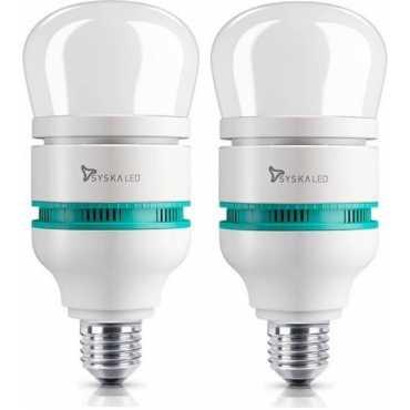 Syska SSK-RB-1801 18 W Standard E27 1550L LED Bulb Yellow Pack of 2