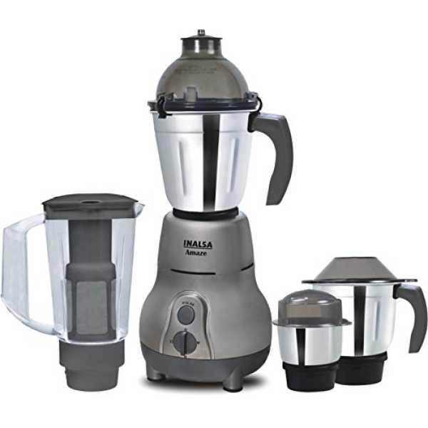 Inalsa Amaze 750W Mixer Grinder (4 Jars) - Grey