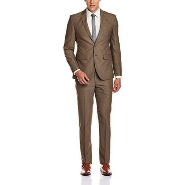 Men's Suit Trousers (8907253109516_PMDS02832-O5_108_Medium Brown)