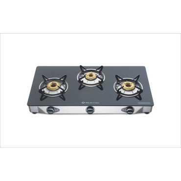 Bajaj CGX3M 3 Burner Glass Manual Gas Cooktop - Black