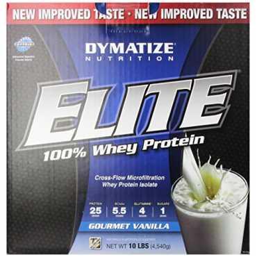 Dymatize Nutrition Elite Whey Protein Isolate (10Lbs, Gourmet Vanilla)