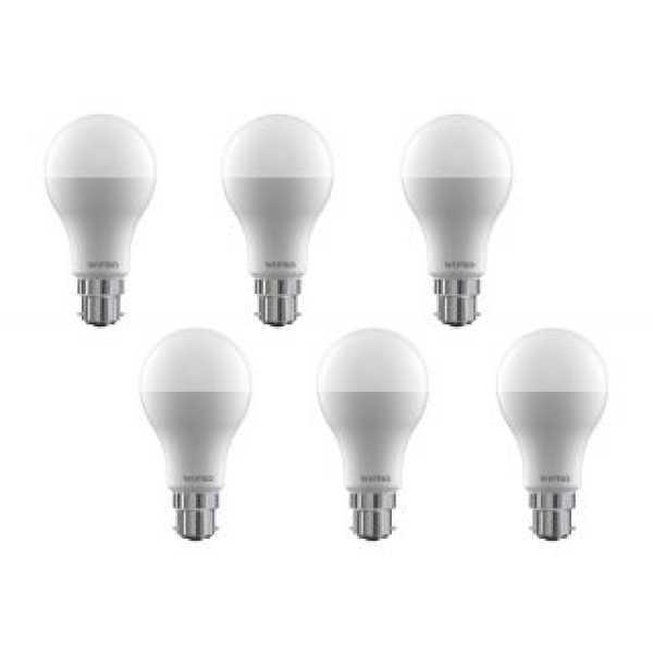 Wipro 12W 6500K LED Bulb (Cool Day Light, Pack Of 2)