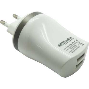 Portronics POR 482 Dual USB Charger - White
