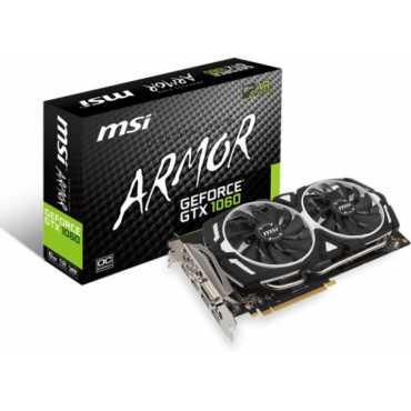 MSI GeForce GTX 1060 ARMOR 6G OC 6GB GDDR5 Graphics Card - Black