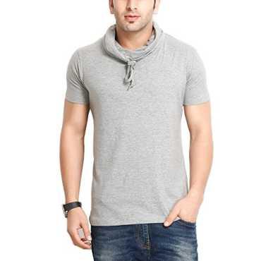 Men s Hooded T-Shirt GS60210CWLGMEL 1 _Grey_Large