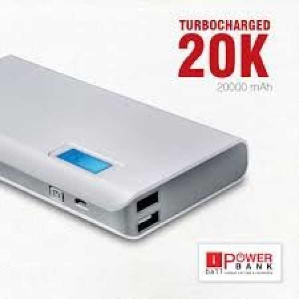 iBall (PB-20007) 20000mAh Power Bank - Grey | Black | White