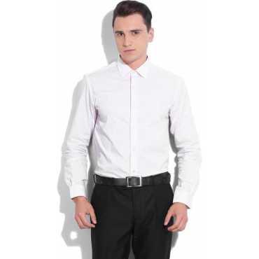 John Players Men s Polka Print Formal White Red Shirt