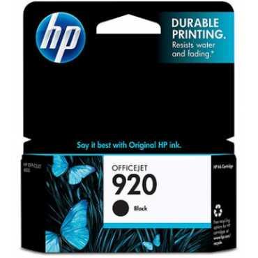 HP 920 Black Ink Cartridge - Black